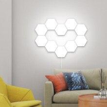Luminária led quantum sensível ao toque, luminária noturna modular hexagonal de led criativa para decoração de casa cor