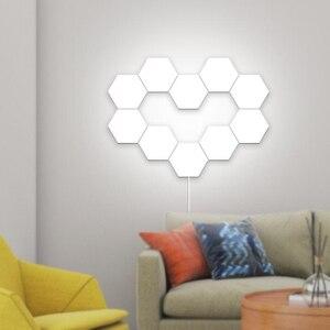 NEW LED DIY Quantum Light Touch Sensitive Sensor Night Lamp Modular Hexagonal LED Creative Home Decor Color Night lamp lampara(China)