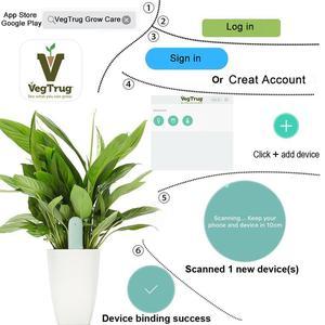 Image 4 - Mais novo origina hhcc flor grama monitor digital grama flor inteligente tester sensor de cuidados com a água do solo luz detector planta detectar