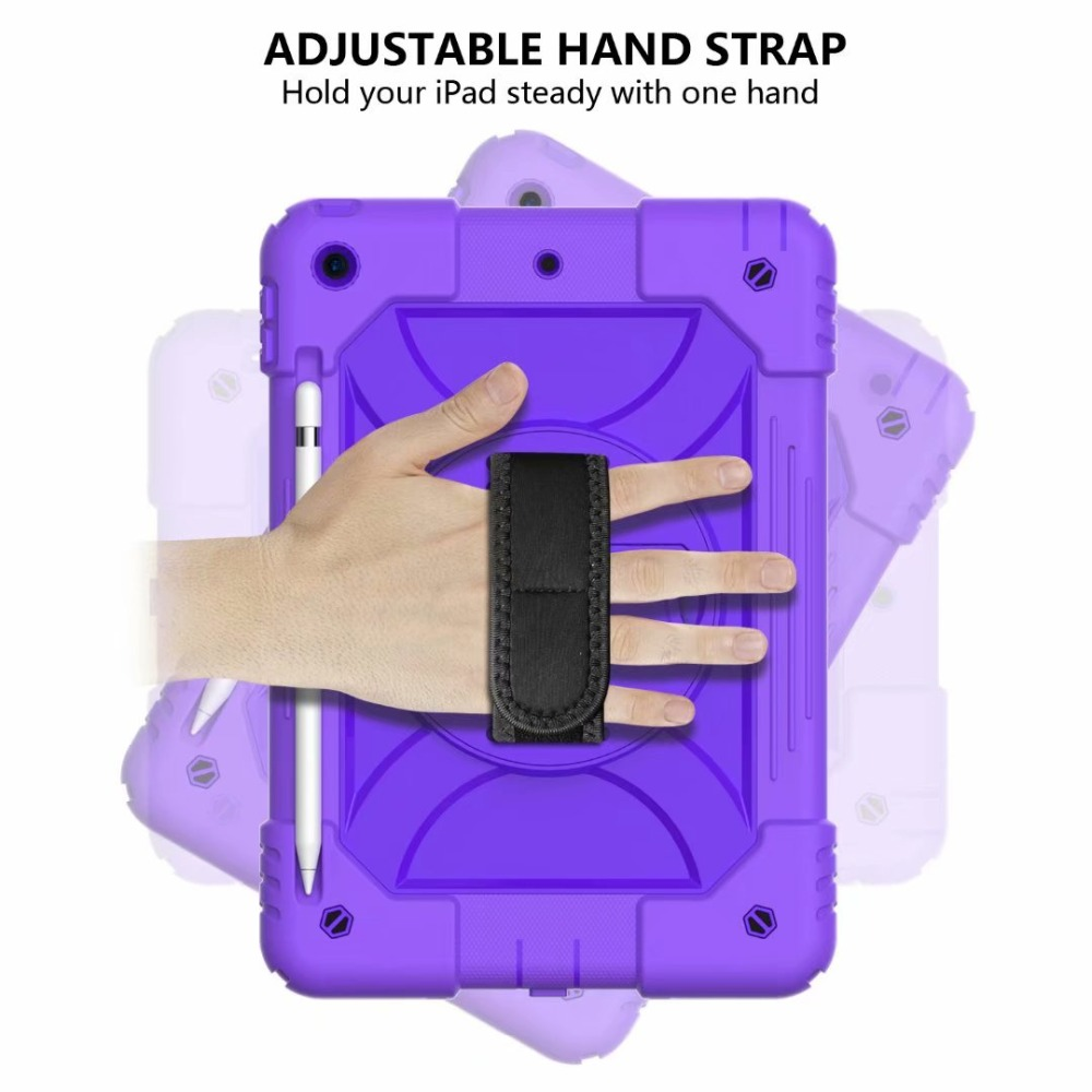 Cover Holder Rotating 7th Strap Hand iPad 360 Generation Pencil Stand For iPad For Case