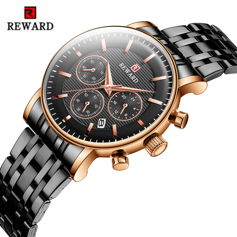 REWARD Top Brand Luxury Women's Sport Watches Chronograph Waterproof Ladies Watch Women Japan Movement Clock Reloj Mujer