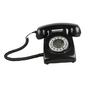 Image 3 - Retro della Manopola Rotativa Telefono di Casa, Vecchio stile Classico Con Filo Telefono Telefono Vintage Telefono di Rete Fissa per la Casa e Lufficio