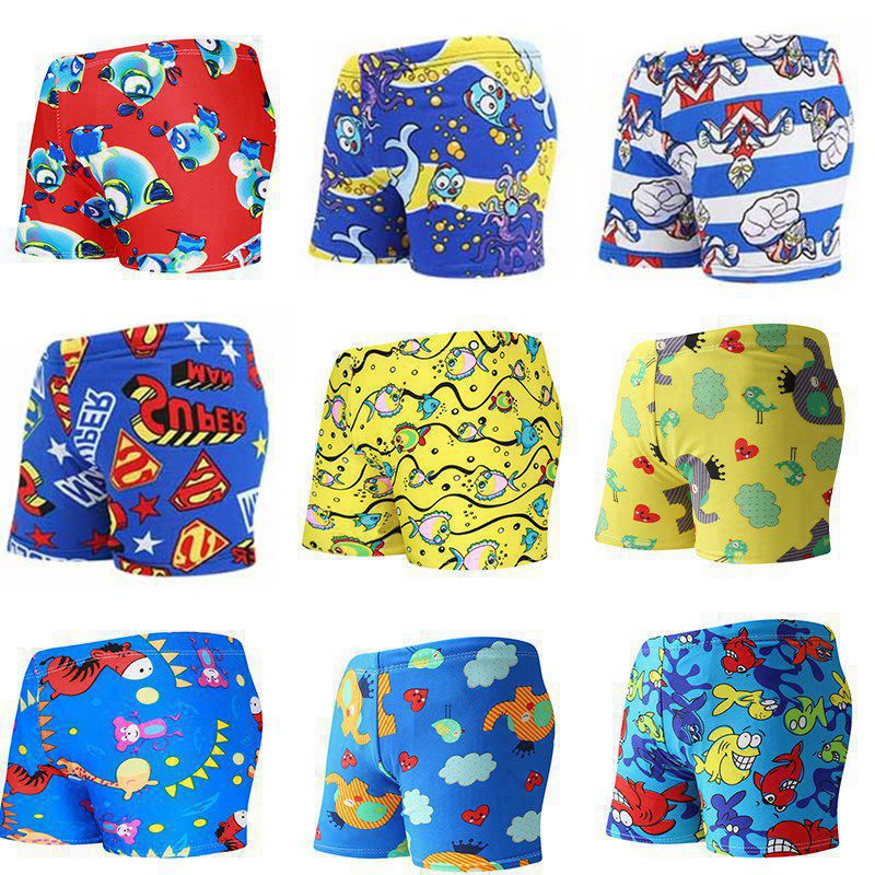 CHILDREN'S Swimming Trunks Men's New Style Fashion Boxer Floral Swimming Trunks Children Swimming Trunks Size Selectable Manufac