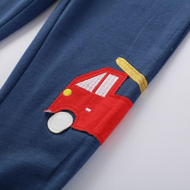 Saileroad 2-7 anos menino crianças calças calças de inverno moda carros padrão meninos completo sweaterpants meninos calças quentes