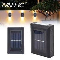1/2 Pcs Solar Led-leuchten Wasserdichte Up und Unten 2/4 LED Wand Lampe für Garten Balkon Weihnachten Dekoration Im Freien Solar lichter