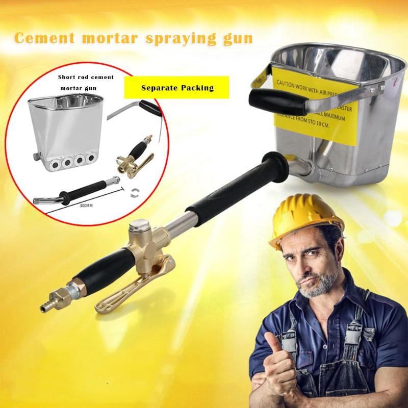 Spray Gun For Painting Walls Cement Mortar Gypsum Sprayer Hopper Bucket Automatic Spraying Gun Equipment