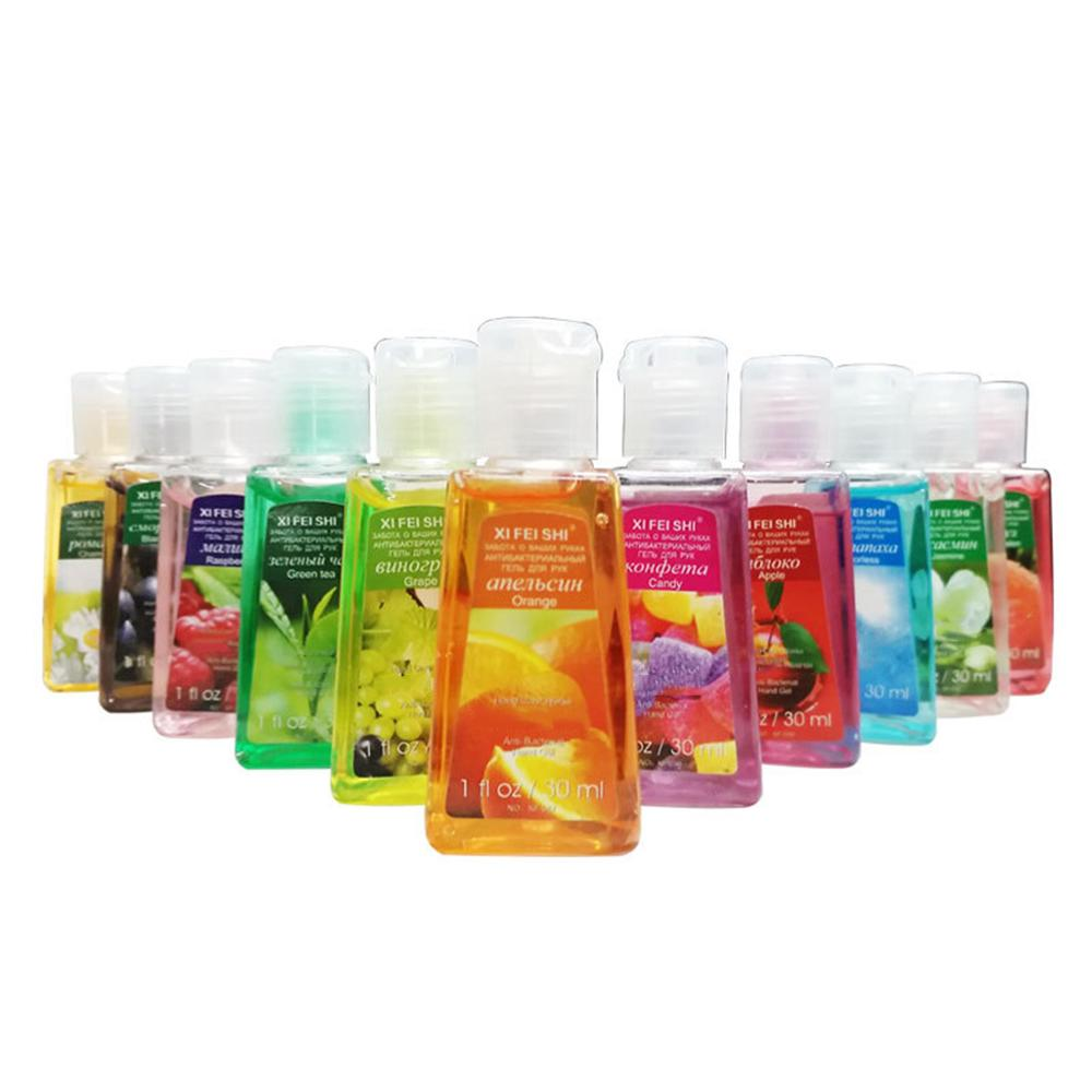 30ml Hand Sanitizer Gel Fruit Scented Disposable No Clean Portable Disinfectant Hand Soap X7YB