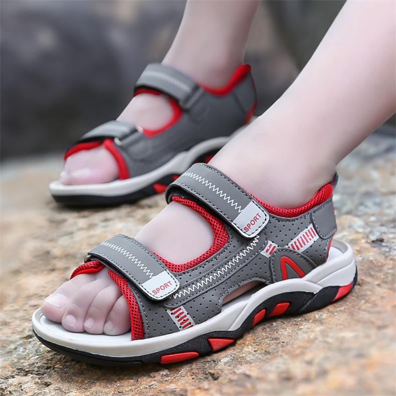 2020 Summer Boys Sandals Kid Sandals Children Shoes Cut-outs Rubber School Shoes Breathable Open Toe Casual Boy Sandal (18)