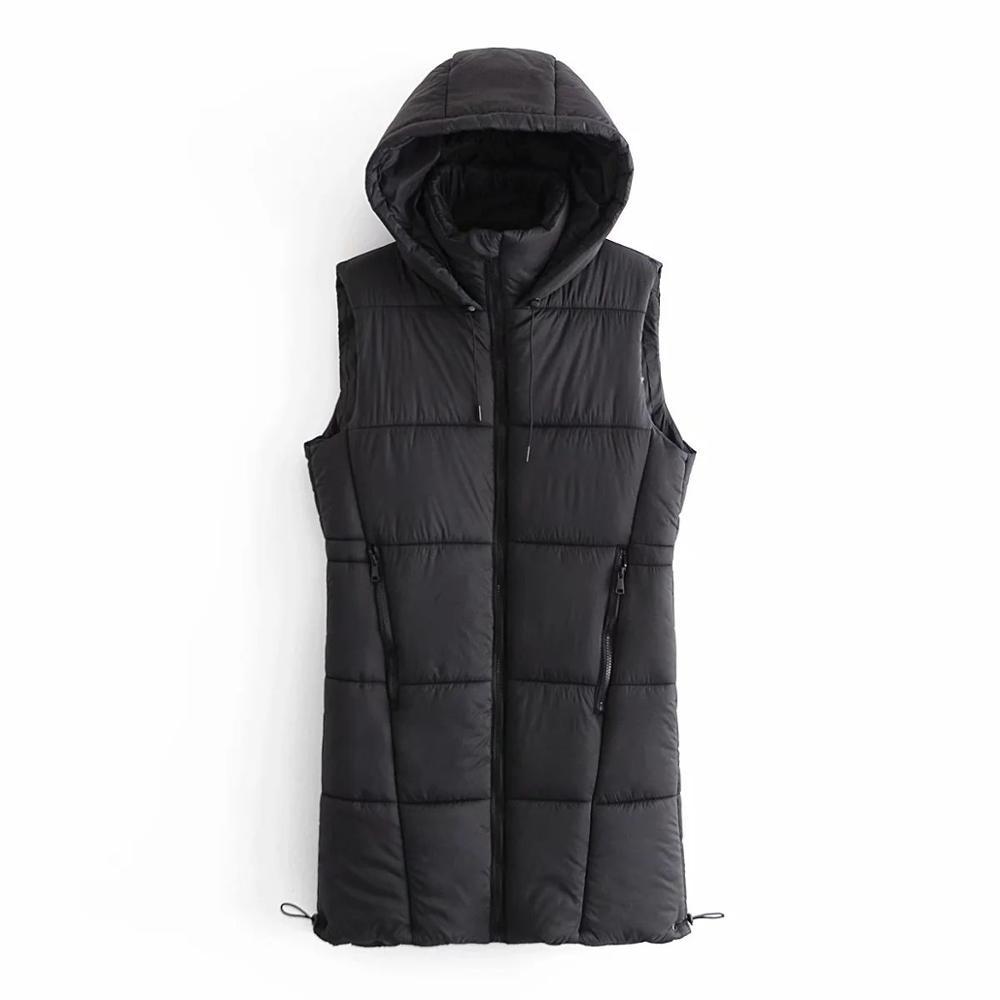 2020 New Fall Winter Women Jacket Sleeveless Coat Hooded Warm Fashion Outerwear Tops Women Long Coats