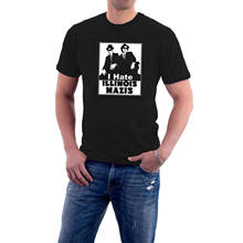 나는 일리노이 Nazis T 셔츠를 싫어한다 Blues Brothers Jake & Elwood Tribute Cotton Tee 020705(China)