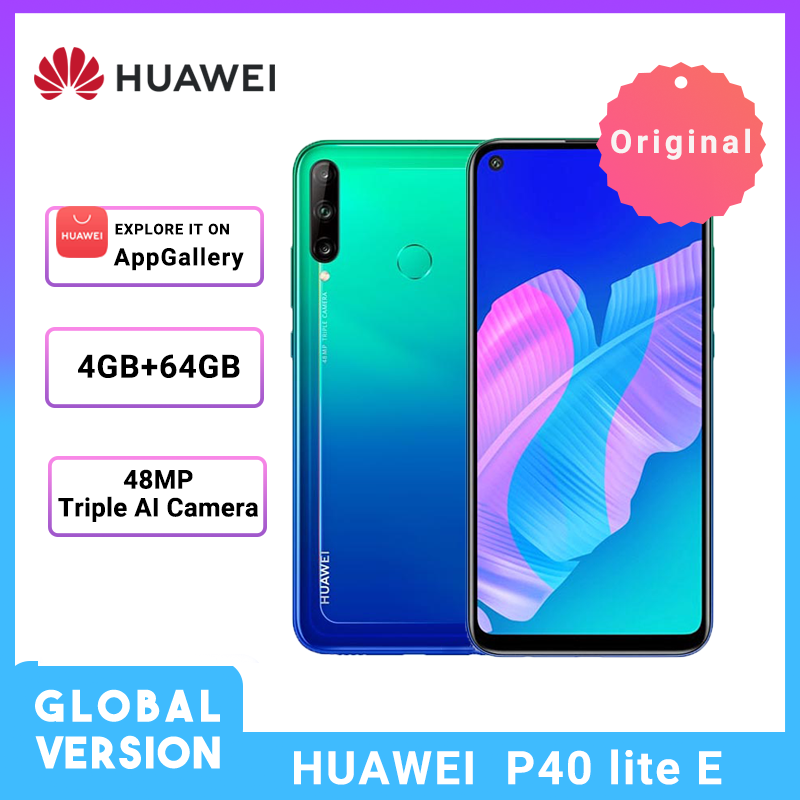 In Stock Huawei P40 Lite E  Global Version 4GB 64GB Smartphone 48MP AI Cameras 6.39'' FHD Screen Kirin 710 Octa Core Cellphone