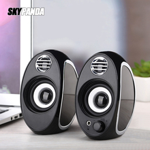 Bass USB + AUX Wired Computer Speakers A Pair 5W*2 High Power Speakers for Laptop Desktop Phone Portable Multimedia Loudspeaker