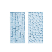 Stone Pattern Plastic Mould Stampi in Silicone Designer DIY Clay Craft Concrete Molds