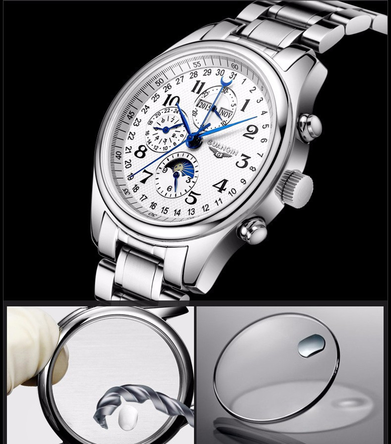 H2c7218aef95c4b1ba5d3fd5f517d7046Q GUANQIN Automatic Mechanical Men Watches Top Brand Luxury Waterproof date Calendar Moon Leather Wristwatch Relogio Masculino A