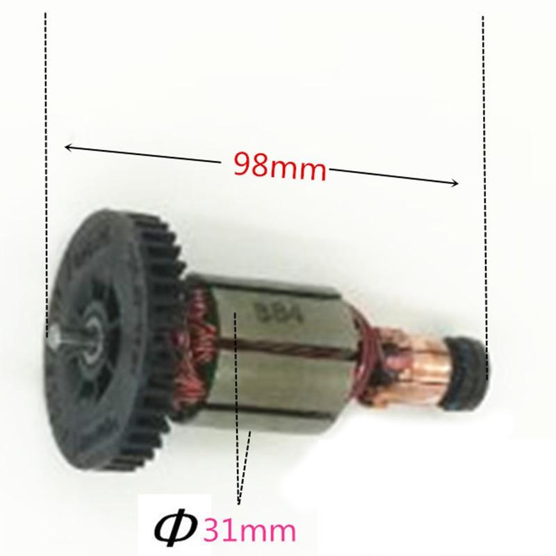 Image 5 - Brush Holder+Caps+Cover+Brushes+Armature for MAKITA CB430 BGA450 BGA452 DGA452 DGA452RMJ DGA452SFE DGA452FE3 DGA452RFE PromotionPower Tool Accessories   -