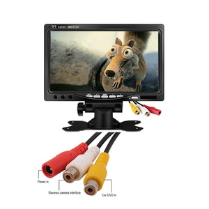 Image 3 - Kleine 7 Inch Auto Monitor Pc Mini Tft Led Lcd Hd Draagbare Screen Display 800X480 Voor Auto Reverse achteruitrijcamera Cctv Monitor