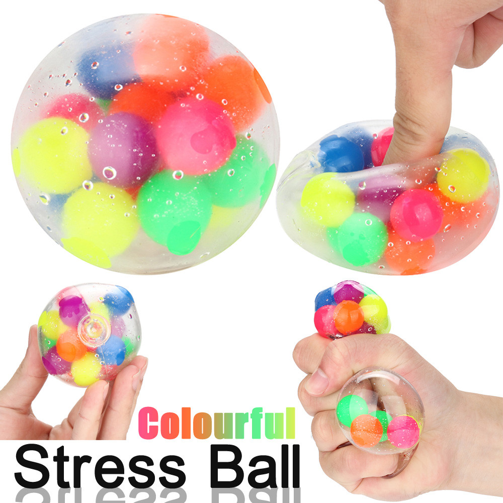 Non-toxic Color Sensory Toy Office Stress Ball Pressure Ball Stress Reliever Toy Decompression Kids Toys Juguetes Brinquedos
