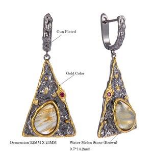 Image 5 - Dreamcarnival1989 novas chegadas exagerada pirâmide olhar feminino brincos melão de água zircão cúbico jóias preto cor ouro we3998