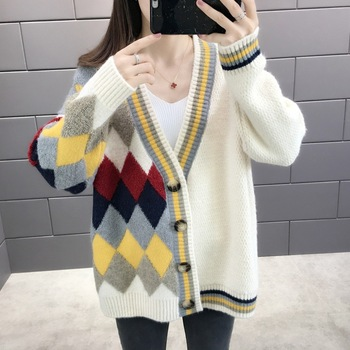 цена на 2020 Oversized Knitted Cardigan Sweater Women Fall Winter Long Loose Thicken Casual Jumper Woolen Open Stitch Outwear Vestidos