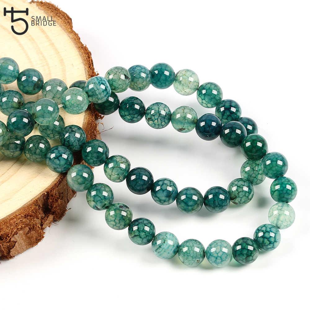 6 8 10 Mm Natuurlijke Gebarsten Stenen Kralen Voor Sieraden Maken Diy Accessoires Voor Armbanden Ronde Agaat Kralen Strand Groothandel s502
