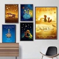 Pintura sobre lienzo de películas del Principito, arte de pared impreso, decoración del hogar, imágenes modulares, póster de estilo nórdico para habitación de niños