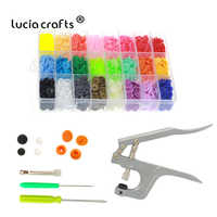 1Box 360sets Colorful Snap Resin Button DIY Press Pliers Hand Punching Tool DIY Sewing Accessories J0237