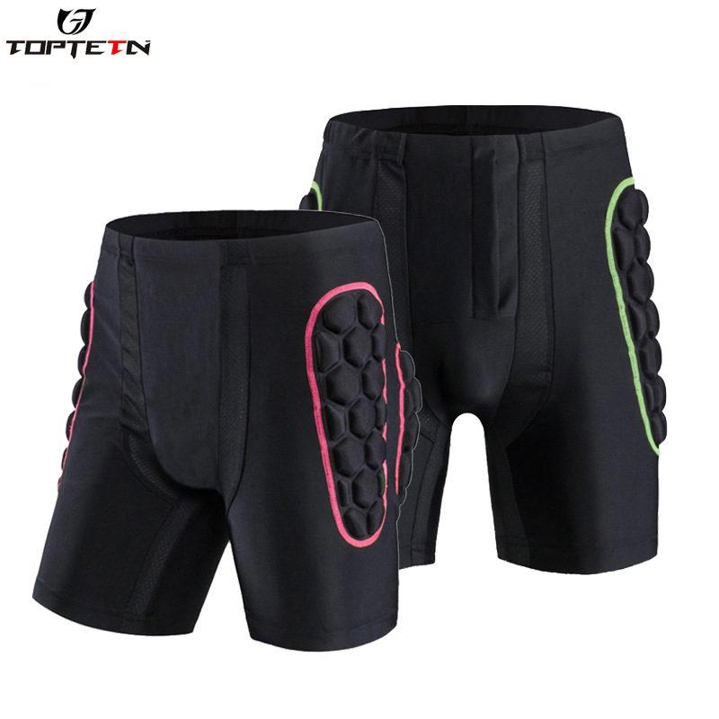 TOPTETN Unisex Hip Butt Protection Padded Shorts Armor Hip Protection Shorts Pad For Snowboarding Skating Skiing Riding Shorts