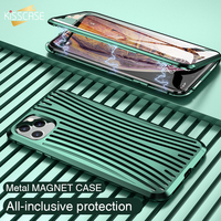 KISSCASE Tempered Glass For iphone 11 XS MAX case Magnetic Metal Bumper Shockproof Full Protection Cover Case For iPhone X XS 7