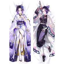 Demônio slayer anime adulto kochou shinobu cosplay abraçando corpo travesseiro caso kimetsu não yaiba dakimakura capa feminina otaku presente