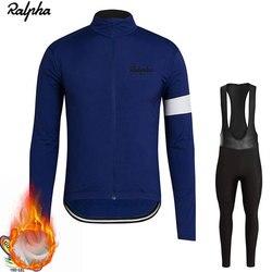Raphaing Ropa ciclismo Warm 2019 Winter Warm Fleece cycling  Jersey Men's Jersey Suits Riding Clothing Bib Pants Set Fleece Wool