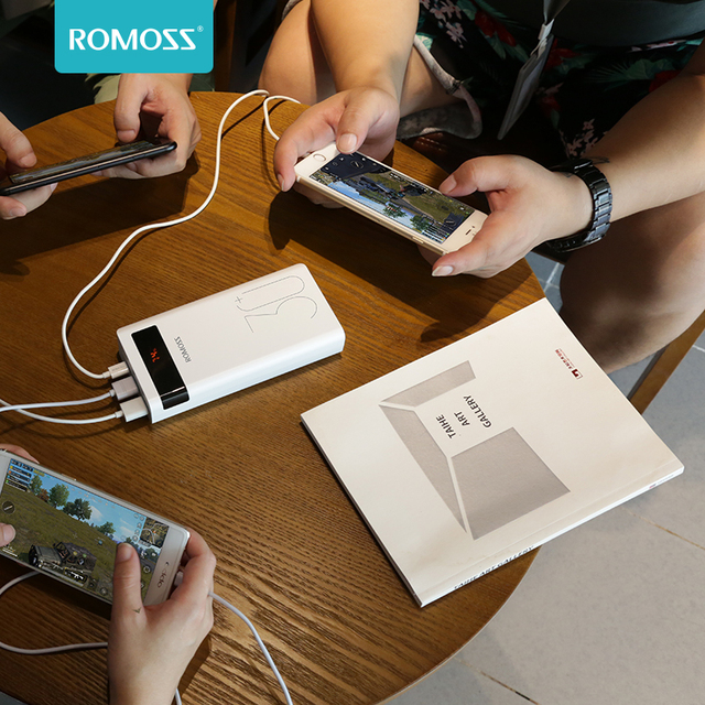 ROMOSS 30000mAh Power Bank PD Quick Charge Powerbank PD 3.0 Fast Charging Portable Exterbal Battery Chargerfor iPhone for Xiaomi 5