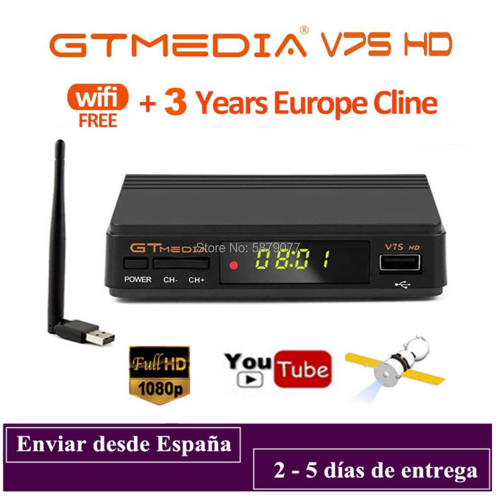 DVB-S2 Gtmedia V7S Hd 1080P Digitale Receptor DVB-S2 Satellietontvanger Tv Tuner Hd Box Cline Decoder Biss Vu Pvr wifi Freesat V7