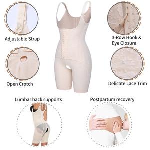 Image 4 - Womens Open Bust Corset Body Shaper Thigh Reducer Firm Tummy Control Shapewear Bodysuit Fajas Colombianas Slimming Underwear