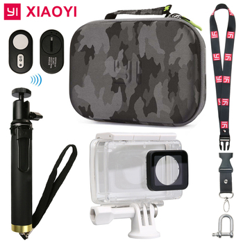 цена на Yi 4K Waterproof Case + Selfie stick+ Bluetooth Remote control +Storage Collect Bag For xiaomi yi 2 xiaoyi 4K camera accessories