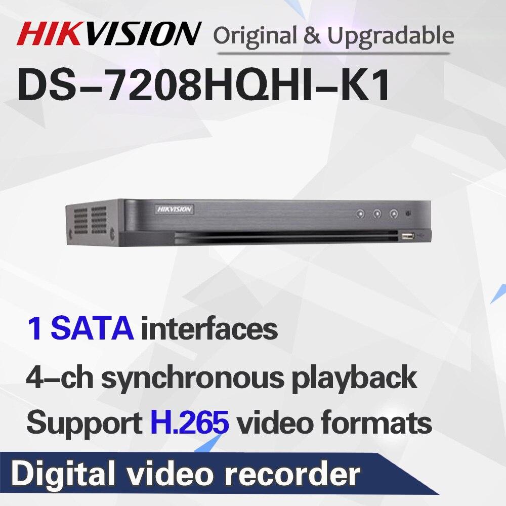 Original English Version 8ch DVR DS-7208HQHI-K1 AHD CVI TVI CVBS IP 6MP Security DVR for Analog Camera