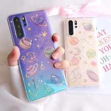 Bling Glitter Space Planet Phone Case For Huawei P20 P30 Pro Lite Mate 20 Pro Lite Soft Star Back Cover For p smart Nova 3i 4 5(China)