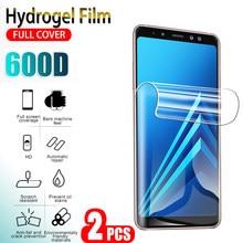 Гидрогелевая пленка для защиты экрана, 2 шт., для Samsung Galaxy A8 Plus 2018 A7 2018 A750 A730f, полное покрытие, мягкая защита телефона, не стекло