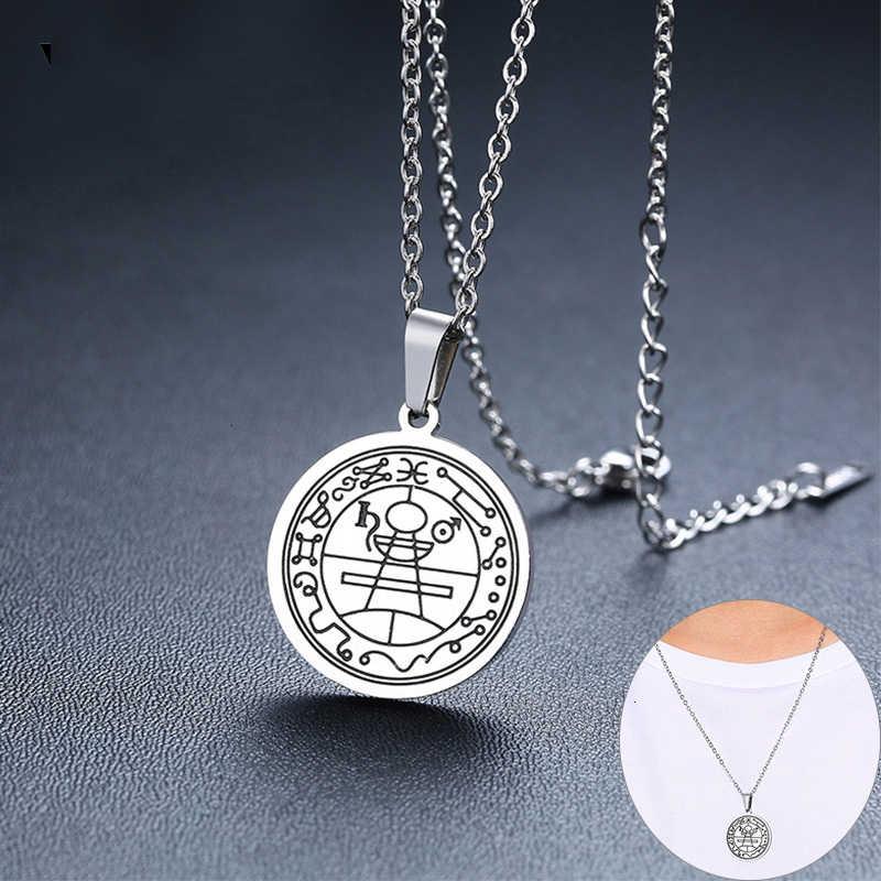 Retro Amulet talizman sekretna pieczęć salomona Unisex wisiorek naszyjniki dla mężczyzn kobieta bogactwo Fortune prezenty biżuteria