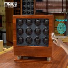 Nowe pokrętło zegarka z litego drzewa różanego z blokada z użyciem linii papilarnych i ekran dotykowy LCD tryb TPD dla 9 12 zegarki automatyczne Box 8012 tanie tanio MOMODESIGNS CN (pochodzenie) Zegarek nawijarki FP-8012 Solid Rosewood Nowy bez tagów 16000g