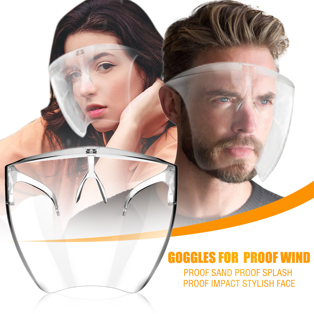 Face-Mask Impact-Shield Sand-Proof Transparent Wholesale Fashion Anti-Dust Women Splash