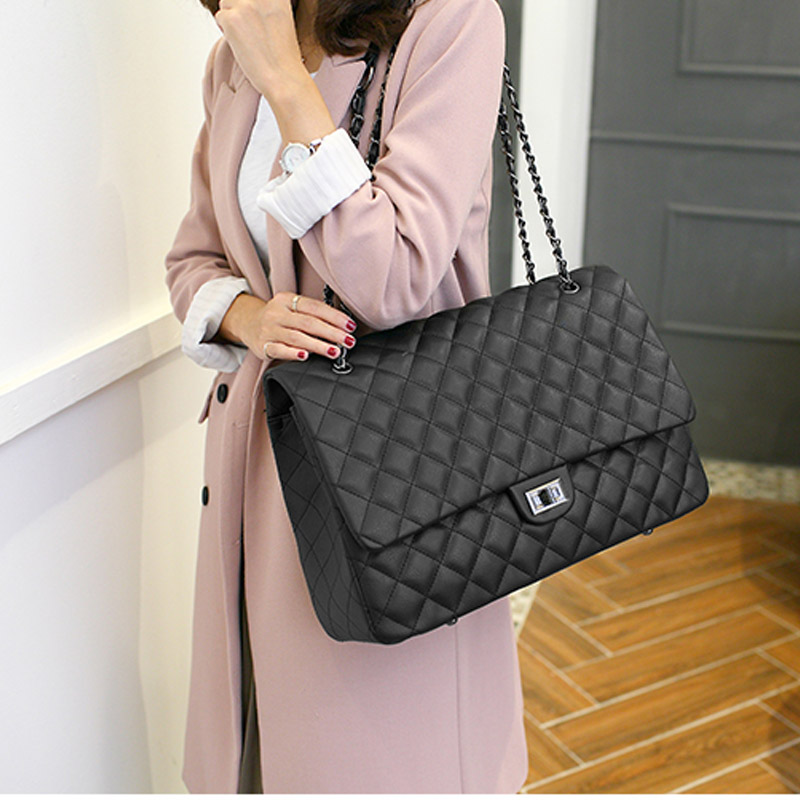 Luxury Women Clutch Handbags Leather Travel Bag Female Shoulder Big Bags Ladies Designer Duffle Luggage Bag Organizer Sac A Main