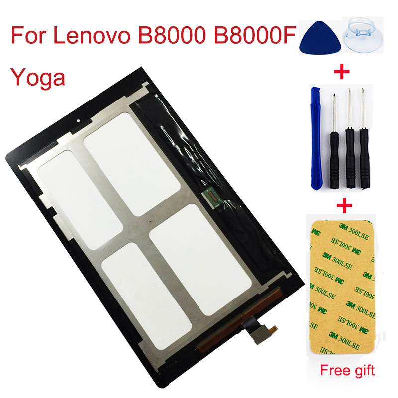 LCD For Lenovo <font><b>B8000</b></font> B8000F Yoga Tablet 10 60047 LCD Display Panel Touch Screen Digitizer Sensor Glass Assembly image