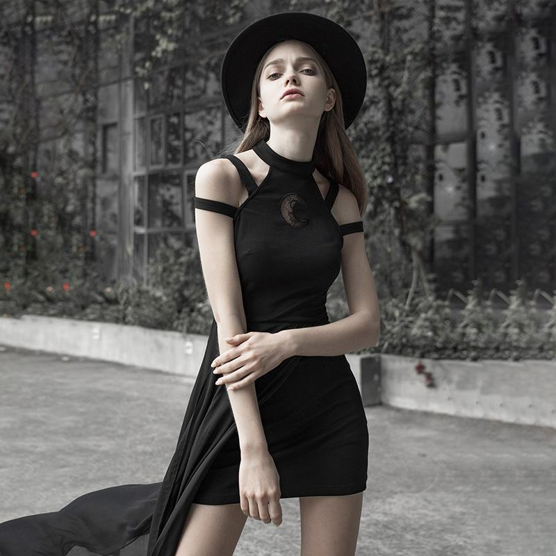 Punk Rave femmes Goth licou goutte épaule robe en couches PQ586LQ asie taille (S-L)