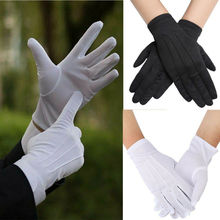 1Pair White Cotton Jewelry Glove Beauty Moisturising Magician Waiter Gloves
