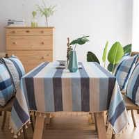 Listra à prova dwaterproof água toalha de mesa de cozinha toalha de mesa retangular toalhas de mesa de jantar capa de mesa obrus tafelkleed mantel mesa nappe