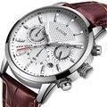 2020 новые мужские часы LIGE Лидирующий бренд кожаный Хронограф водонепроницаемые спортивные автоматические кварцевые часы для мужчин Relogio ...