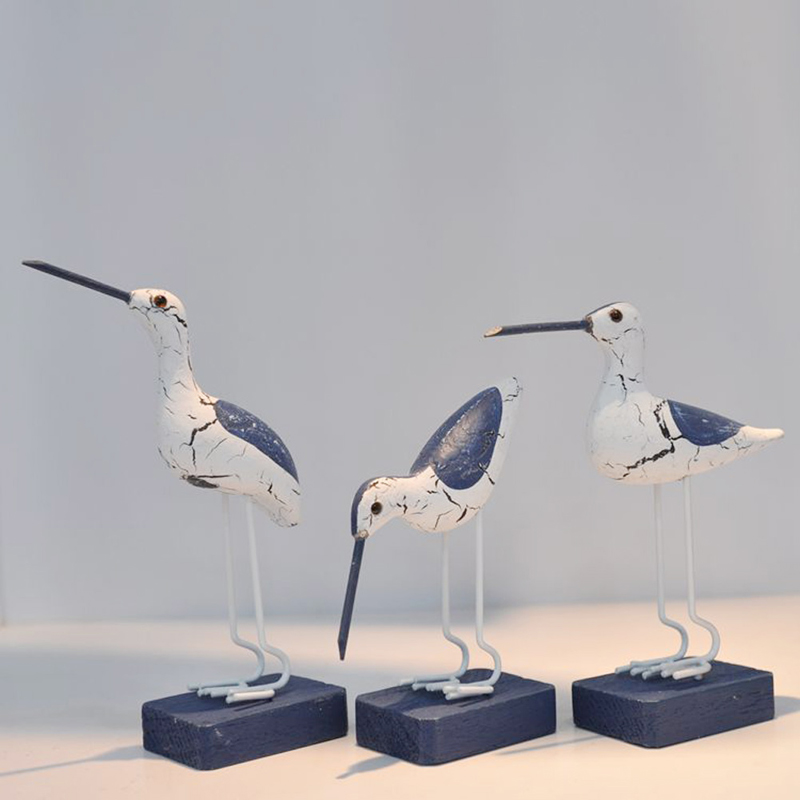 <font><b>Wooden</b></font> Navy <font><b>Seabirds</b></font> Mediterranean Style Sculpture Home Decoration Craft H4GD image