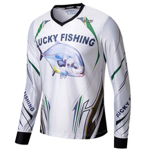 Fishing suit male ice silk V-neck fishing sea Lu Ya competition breathable quick-drying sun protection clothing