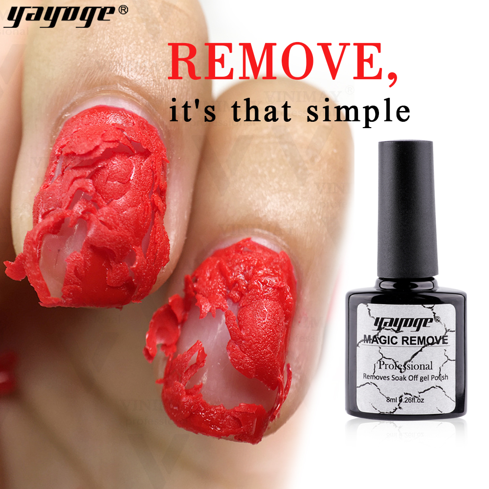 YAYOGE 8ml dissolvant de vernis à ongles magique dissolvant de vernis à ongles tremper hors acrylique nettoyant pour ongles dégraissant UV gel manucure outils d'art d'ongle