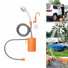 Lavadora de carro portátil chuveiro acampamento alta pressão máquina lavar roupa chuveiro elétrico bomba água viagem pet take shower kit
